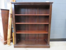 Victorian mahogany open fronted bookcase
