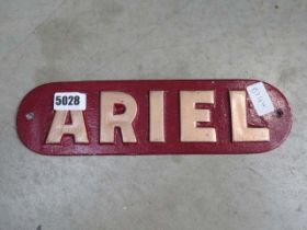 Painted Ariel sign