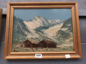 5030 - Mountain scenerey with shephered's huts