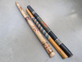 3 Aboriginal didgeridoo