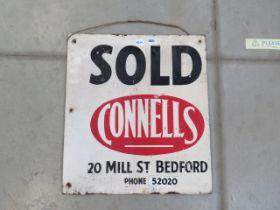 Enamelled Connells of Bedford Estate Agents sign