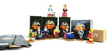 Nine Robert Harrop Camberwick Green figures: CG77 Mrs Honeyman with Pram, CG25 Mrs Cobbit (Flower