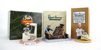 Three Robert Harrop Camberwick Green figures: CGMILL06 Mickey Murphy Happy Birthday, CGYP11