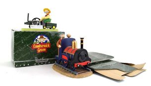 Two Robert Harrop Camberwick Green figures: CGYP09 Mr Bilton on the Model Steam Engine and CG64 Lord
