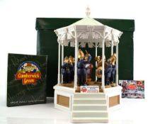 A Robert Harrop Camberwick Green figure: CGMB7 Trumpton Bandstand (musical box), together with seven