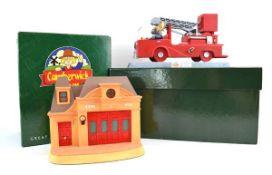 Two Robert Harrop Camberwick Green figures: CGMB8 The Trumpton Fire Engine Musical Box and CGB02