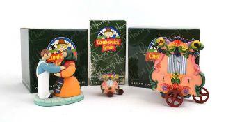 Three Robert Harrop Camberwick Green figures: CGMB2 The Dutch Organ (musical box), CGFG09
