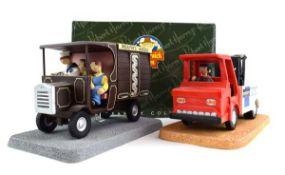 Two Robert Harrop Camberwick Green figures: CGMB5 Mickey Murphy's Baker's Van (musical box) and CG79