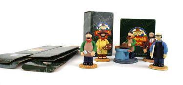 Five Robert Harrop Camberwick Green figures: CG52 The Artist, CG37 Mr Munnings (Printer), CG44 Mr
