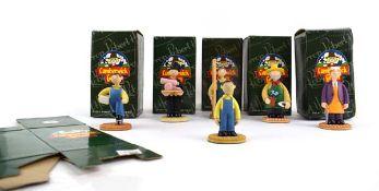 Six Robert Harrop Camberwick Green figures: CG89 Paddy Murphy Whizzing Along, CG19 Paddy Murphy,
