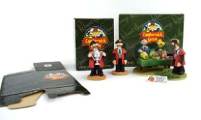 Three Robert Harrop Camberwick Green figures: CGS07 The Mayor and Mr Clamp The Grand Flower and