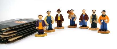 Seven Robert Harrop Camberwick Green figures: CG03 Jonathan Bell (Farmer), CG24 Nibs Minton (