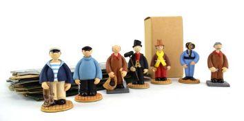 Seven Robert Harrop Camberwick Green figures: CGFG01 Brackett Time Flies By, CG65 Private