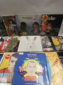 Box containing LP and 45 records to include Fatboy Slim, The Mistakes, Elvis, Outkast and others