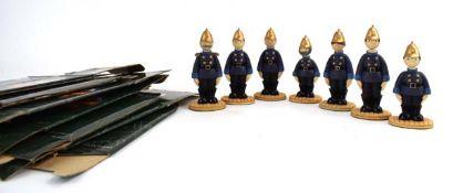 Seven Robert Harrop Camberwick Green figures: CG09 Captain Flack, CG10 Pugh, CG11 Pugh, CG12