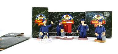 Four Robert Harrop Camberwick Green figures: CG07 Peter Hazel (Postman), CG98 Peter Hazel (Postman),
