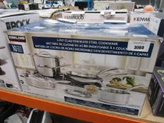 Kirkland stainless steel cookware set, with box