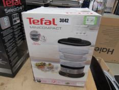 (67) Tefal mini compact food steamer, with box