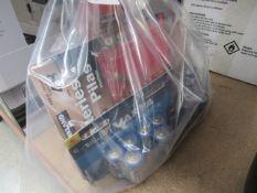 Small bag of mixed batteries