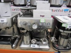 (TN51) Unboxed Sage Barista coffee machine, to include: cleaning kit, razor, milk jug and spoon