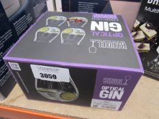 Box contianing 4 optical gin glasses