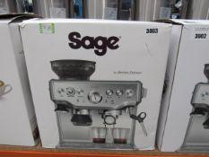 (TN49) Sage Barista Express coffee machine, with box
