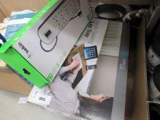 Boxed multi-tasking lap tray, plus a 12v multi plug adaptor