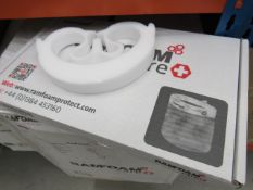 Large box containing face shields