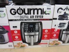 (TN57) Gourmet 5.7ltr digital air fryer, with box