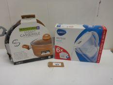 Brita Marella 2.4L water filter jug and Royalford smart 30cm casserole dish