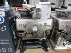 (TN51) Unboxed Sage Barista coffee machine, to include: razor, filter baskets, milk jug and spoon (