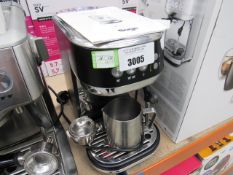 (TN50) Unboxed Sage Bambino coffee machine, with spoon and a milk jug