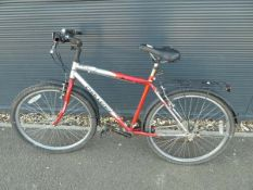 4043 - Challenge red and silver mountain bike