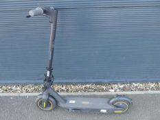 Ninebot electric scooter with charging lead