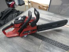 Sovereign red petrol powered chainsaw