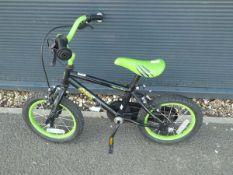 Small childs black and green Apollo bike