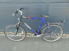 Blue and red gents mountain bike