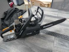Homelight petrol powered chainsaw (no top cover)