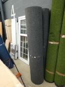 2 large grey rolls of heavy duty industrial style carpet