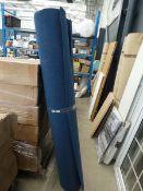 2428 - 2 rolls of blue heavy duty industrial style carpet