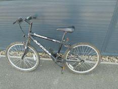 Integra black and silver mountain bike
