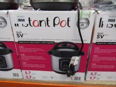 (TN53) Instant Pot multi use pressure cooker with box