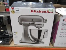 71 Kitchen aid standing mixer with box with 2 attachments