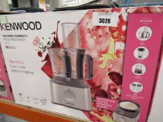 63 4 Kenwood multi pro compact plus food processor with box