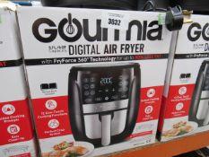 60 Gourmet 5.7L digital air fryer with box