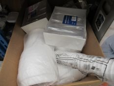 Box of disposable coffee cups, disposable champagne glasses, etc