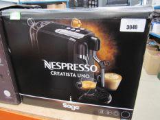 (TN64) Sage Nespresso coffee machine with box