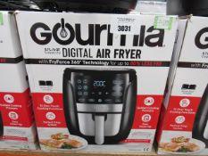 59 Gourmet 5.7L digital air fryer with box