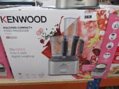 4 Kenwood multi pro compact plus food processor with box
