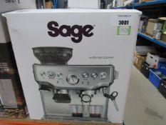 72 Sage Brista Express coffee machine with box, with box
